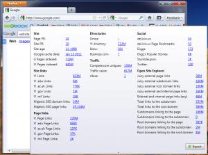 SEObook Page Rank Statistics tool