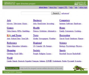 dmoz high page ranking web directory