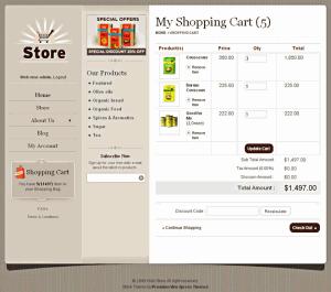Wordpress Shopping Cart Store 3 Checkout