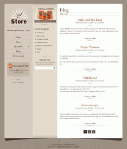 Wordpress Shopping Cart Store Blog