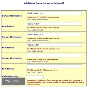 DNS Server configuration